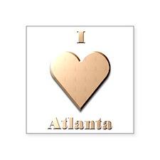 "I Love Atlanta #8 Square Sticker 3"" x 3"""