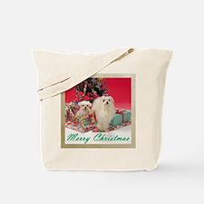 Maltese Christmas Tote Bag