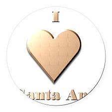 I Love Santa Ana #8 Round Car Magnet