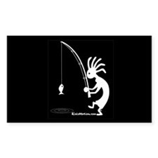 Kokopelli Fisherman Rectangle Decal