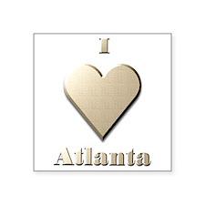 "I Love Atlanta #10 Square Sticker 3"" x 3"""