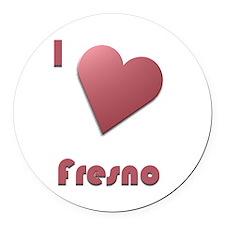 I Love Fresno #12 Round Car Magnet