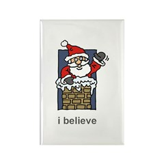 I Believe Christmas Rectangle Magnet