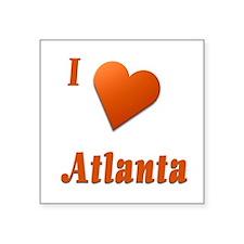 "I Love Atlanta #17 Square Sticker 3"" x 3"""