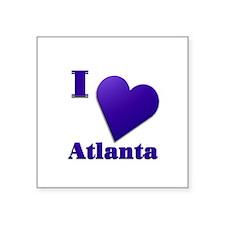 "I Love Atlanta #18 Square Sticker 3"" x 3"""