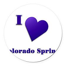 I Love Colorado Springs #18 Round Car Magnet