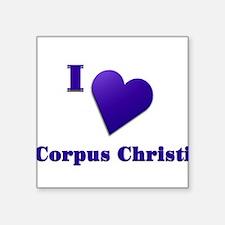"I Love Corpus Christi #18 Square Sticker 3"" x 3"""