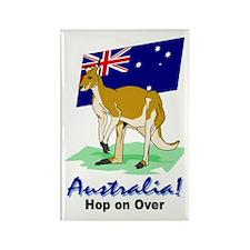 Australia Hop On Over Rectangle Magnet