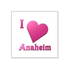 "I Love Anaheim #19 Square Sticker 3"" x 3"""