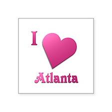 "I Love Atlanta #19 Square Sticker 3"" x 3"""