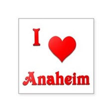 "I Love Anaheim #21 Square Sticker 3"" x 3"""