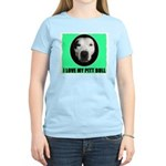 I LOVE MY PIT BULL Women's Pink T-Shirt