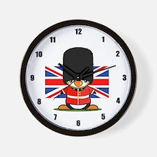 British Soldier Penguin Wall Clock