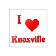 "I Love Knoxville #21 Square Sticker 3"" x 3"""