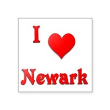 "I Love Newark #21 Square Sticker 3"" x 3"""