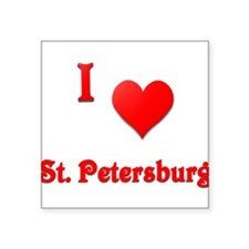 "I Love St. Petersburg #21 Square Sticker 3"" x 3"""