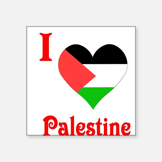 "I Love Palestine #5 Square Sticker 3"" x 3"""