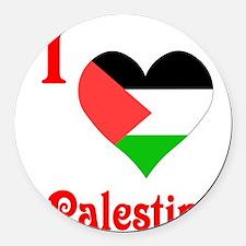 I Love Palestine #5 Round Car Magnet