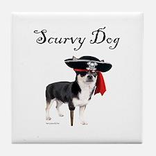 Scurvy Dog Tile Coaster