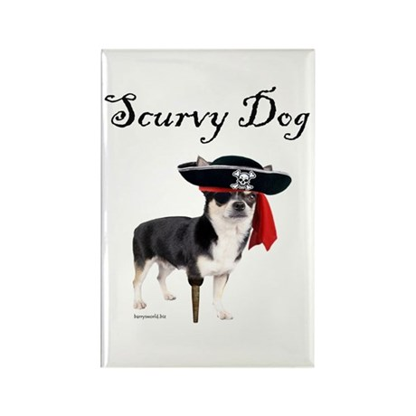 Scurvy Dog Rectangle Magnet (10 pack)