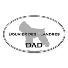 Bouvier DAD Oval Decal