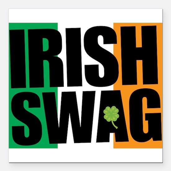"""Irish Swag Square Car Magnet 3"""" x 3"""""""