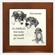 Merles World Framed Tile