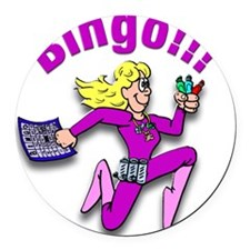 Bingo!!! Round Car Magnet