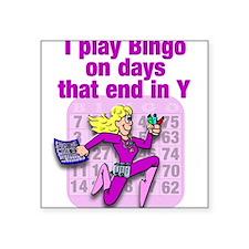 "Cute Bingo Square Sticker 3"" x 3"""