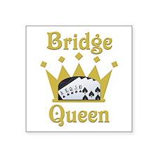 "Bridge Queen Square Sticker 3"" x 3"""