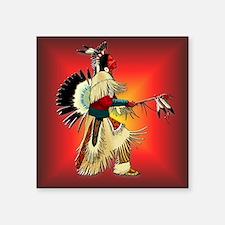 """Native American Warrior #6 Square Sticker 3"""" x 3"""""""