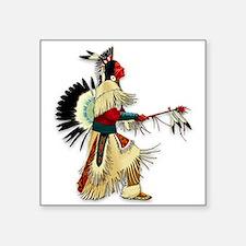 """Native American Warrior #5 Square Sticker 3"""" x 3"""""""