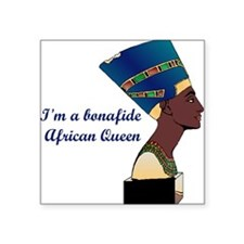 "African Queen Square Sticker 3"" x 3"""