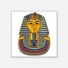 "King Tut Mask #2 Square Sticker 3"" x 3"""