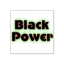 "Black Power Square Sticker 3"" x 3"""