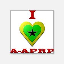 """I Love A-APRP Square Sticker 3"""" x 3"""""""