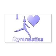 I Love Gymnastics #7 Rectangle Car Magnet