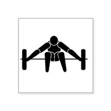 """Weightlifting Square Sticker 3"""" x 3"""""""