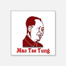 "Mao Tse Tung Square Sticker 3"" x 3"""