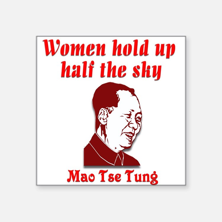 "Mao Tse Tung on Women Square Sticker 3"" x 3"""