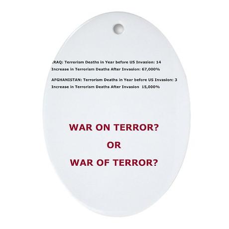 War on Terror or War of Terror? Ornament (Oval)