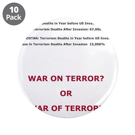 "War on Terror or War of Terror? 3.5"" Button (10 pa"