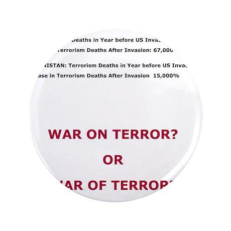 """War on Terror or War of Terror? 3.5"""" Button"""