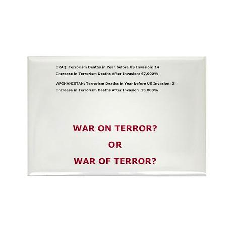 War on Terror or War of Terror? Rectangle Magnet (