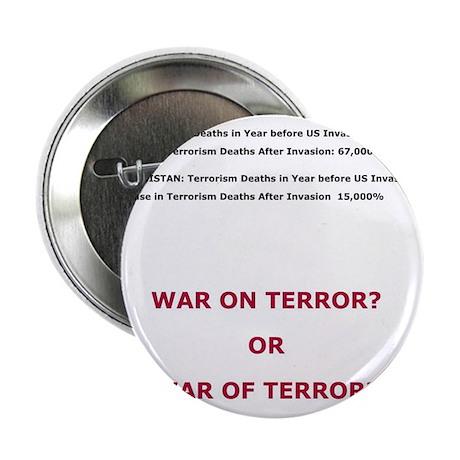 """War on Terror or War of Terror? 2.25"""" Button (100"""