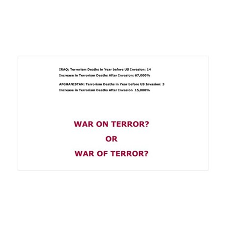 War on Terror or War of Terror? 35x21 Wall Decal
