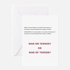 War on Terror or War of Terror? Greeting Card