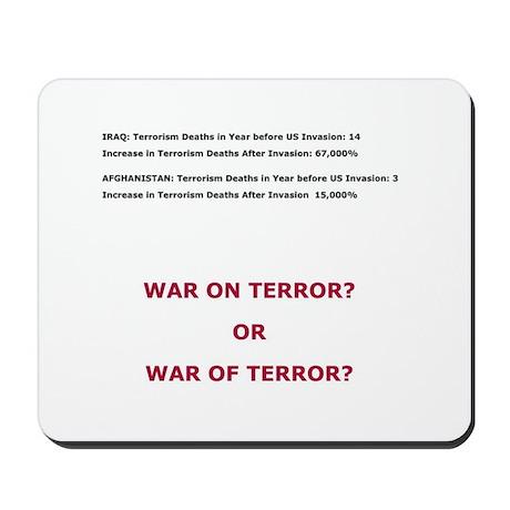 War on Terror or War of Terror? Mousepad