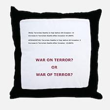 War on Terror or War of Terror? Throw Pillow