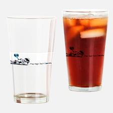 The High Tech Society Logo Drinking Glass